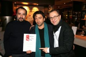 IFA 2014 - Jurymitglied Ayat Najafi, Produzent Chris Breuer, Festivalleiter Bernhard Karl 2